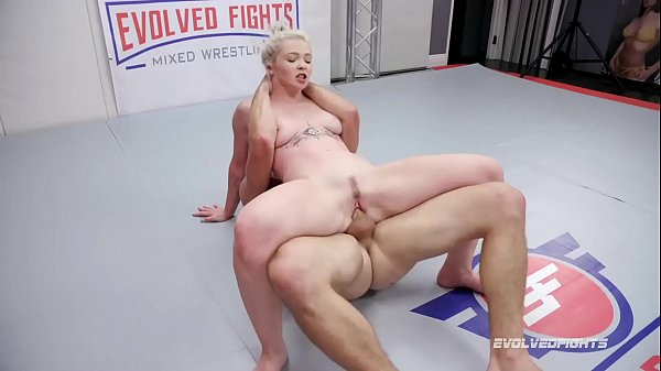 Mixed Nude Wrestling Fight Kay Carter Fucked Roughly by Nathan Bronson in the ring Thumb