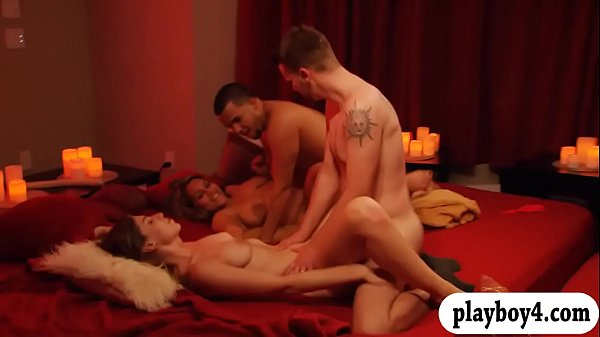 Married couples orgy in Playboy house and enjoy...
