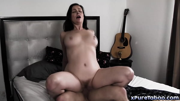 Lonely mom Sovereing Syre wants her step-son Nathan Bronson to impregnate her! Bronson is shocked and reluctant, refusing to fuck his mom!