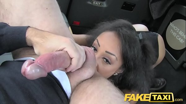Fake Taxi beautiful young black girl in bodysui...