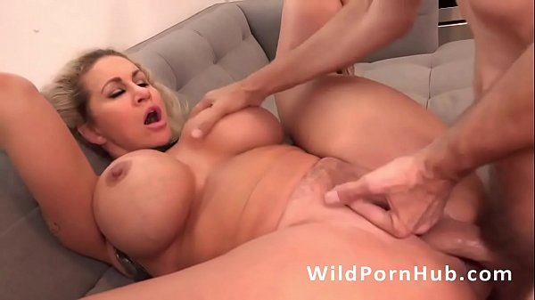 Rough anal sex with a hot blonde MILF Ryan Conner