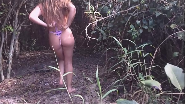 slut wife calls stranger on the beach to fuck her in the bush