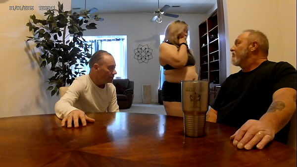 MILF Jucee Hotwife fucks landlord and sucks hubby to pay the rent Thumb