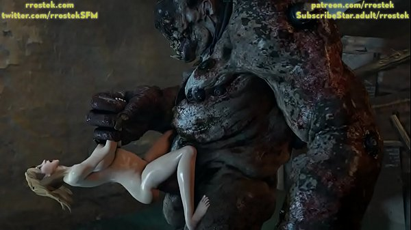 Tina Armstrong gets stomach bugled extremely by a Monster Abomination 3D