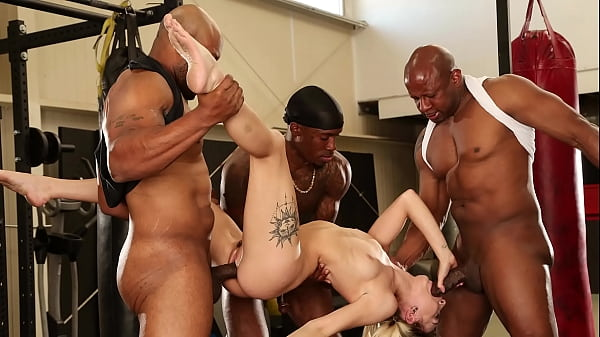 BANGBROS - Chloe Temple Stuffed With Multiple Big Black Cocks