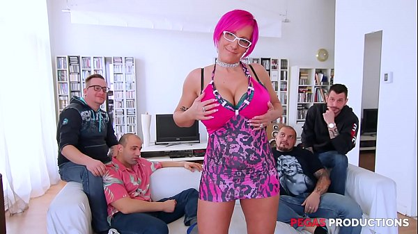 French Canadian Girls - Nasty Bukkake for Milf with Big Ass Tits