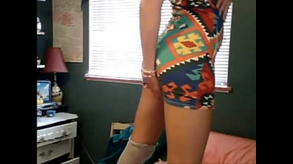 hot y. strips on bed in tight dress. who is she? need more