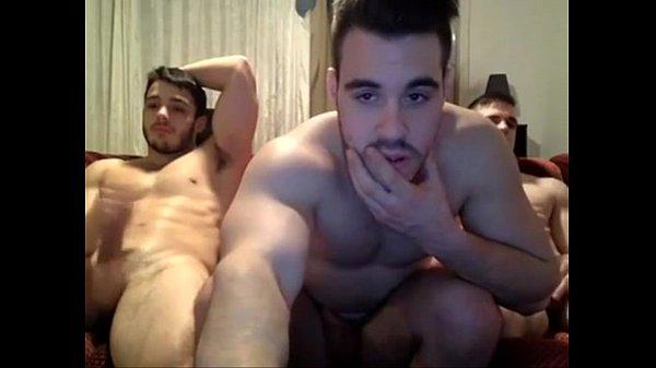 3 Guys Jerking Off