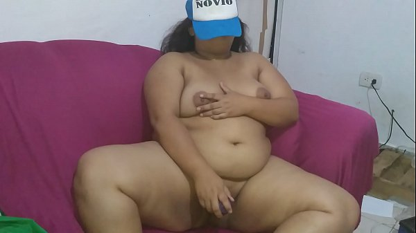 My porn video masturbates in the lounge chair and touching my breasts.
