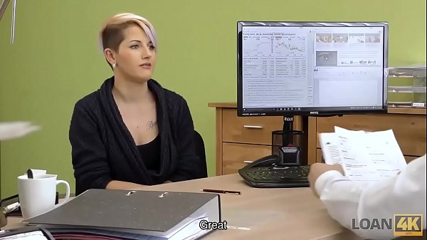 LOAN4K. Agent calls client for a date but she fucks him in office