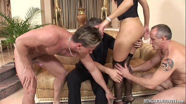 Euro babe gangbanged by big cock studs Thumb