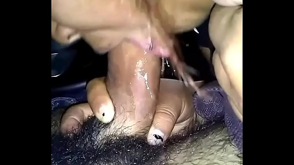 Sloppy blowjob with cum swallow