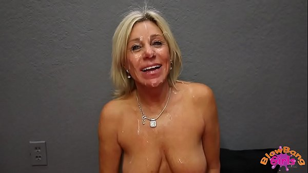 Mature Cougar Payton Hall Gets Huge Facial from 25 Year Old