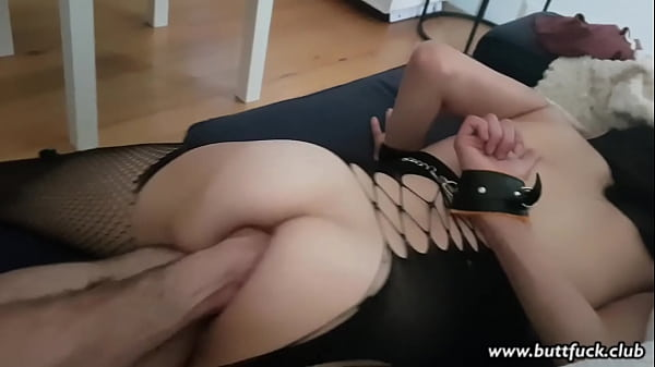 Handcuffed Amateur Fetish Slut Loves a Fist in Her Ass Thumb