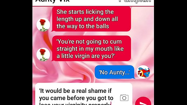 Aunty Vix and Pumpkin sext roleplay part two