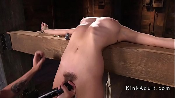 Brunette in breaking point bondage tormented Thumb