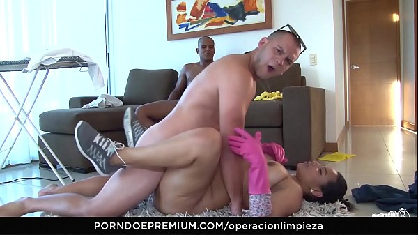 MAMACITAZ - #Andrea Flores - Latina Maid Seduced Into Hot Threesome By House Owner