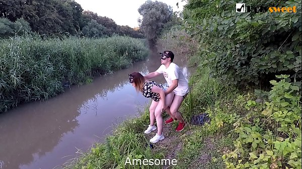 Chastity belt big black strap-on = Pleasing his mistress. Public domination near the road over my boy. English subtitles