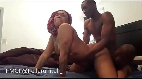 Big booty chick throws ass back & gets pussy fi...