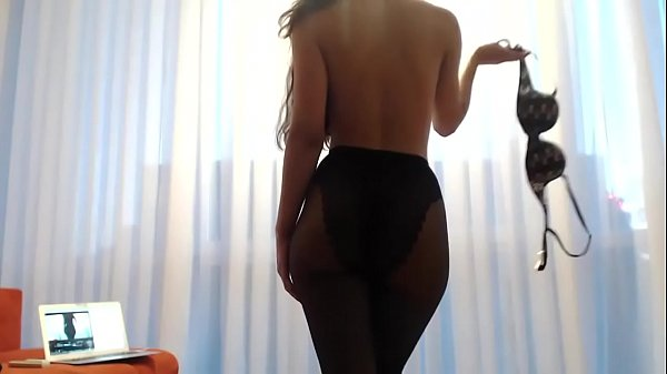 Hot brunette masturbate and squirt in sexy lingerie