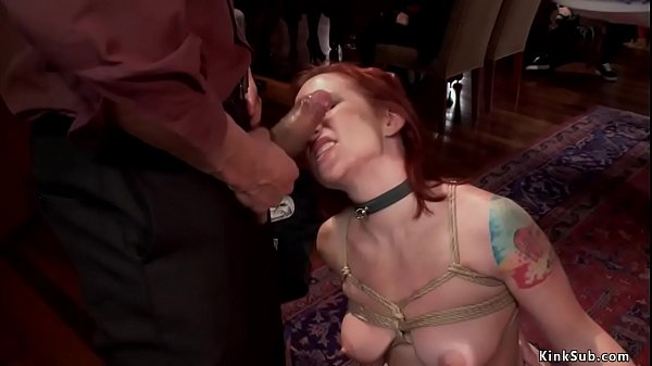 Slave anal fucked at bdsm party