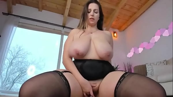 Chubby Huge Boobs Slut In Stockings Masturbates Thumb