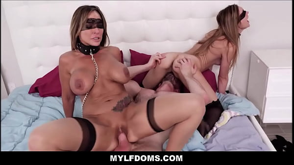 MILF Step Mom And y. Step Daughter BDSM Threeso...
