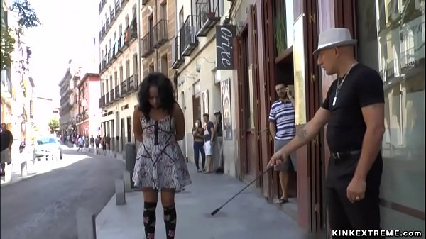 Spanish slut disgraced on the streets