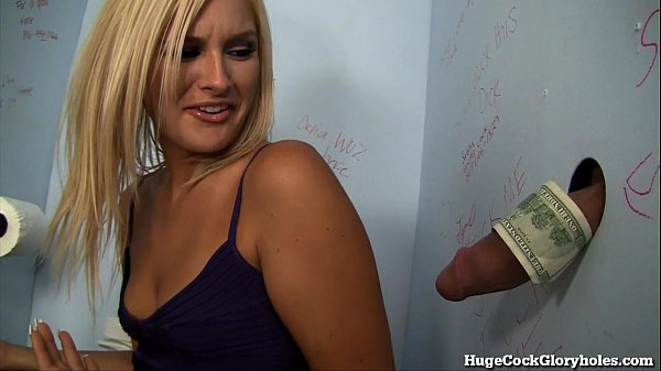 Hot Blonde Blows a Stranger in a Public Bathroom! Thumb