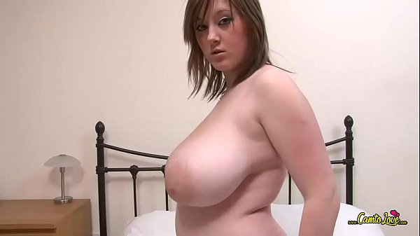 girl plays with huge tits
