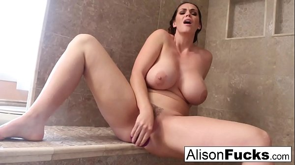 Alison tyler rubs herself to completion in a giant steamy shower!