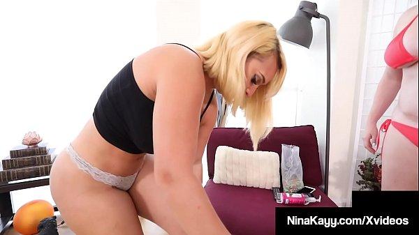 Thick Thighs Nina Kayy Mega StrapOn Fucks Curvy Maggie Green Thumb