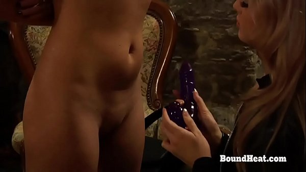 Young Lesbian Slave Sophie Receives Strapon As Birthday Present From Her Madame