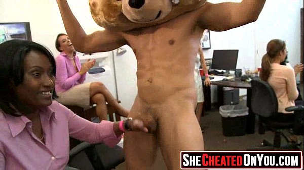 33 Massive Cheating whores suck of stripper at cfnm party40