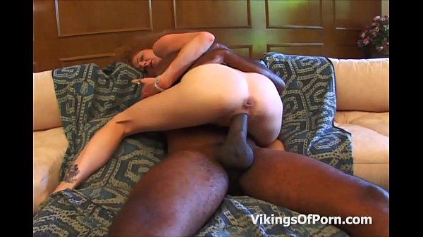 Skinny MILF Pussy Against A Big Black Cock
