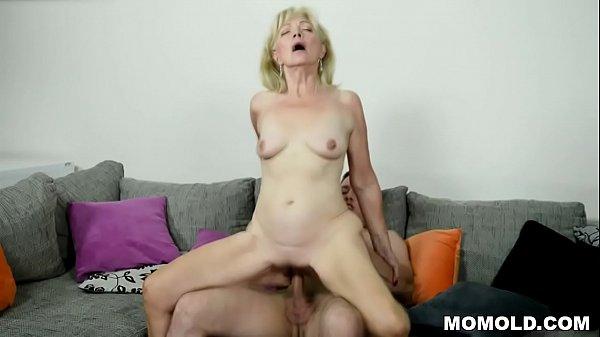 Old blonde GILF still loves cock