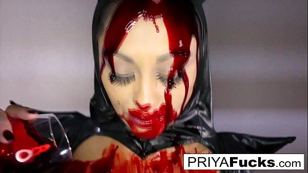 Halloween b. tease with Indian MILF Priya Rai