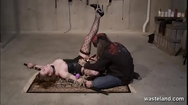 Sizzling Submissive Bound Fucked By Dildos Thumb