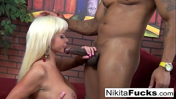 Nikita gets some interracial loving from a big ...