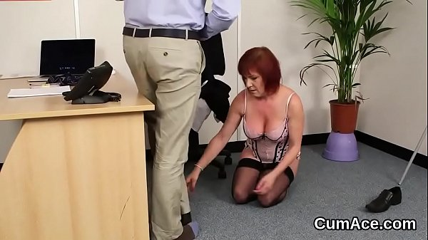 Slutty babe gets cum shot on her face swallowing all the jizz