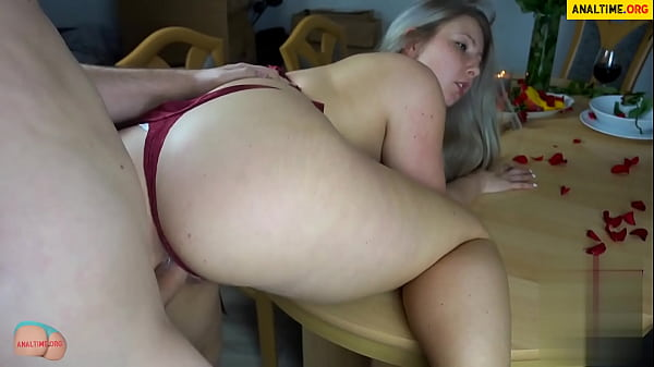 German bbw fucked after a romantic dinner