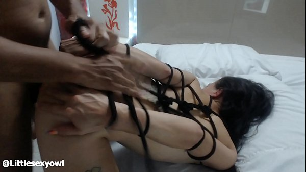 BDSM Bondage my neighbor likes to come for me to fuck and cumming in my back - littlesexyowl interracial