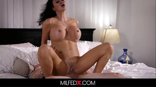 Milf With Huge Tits Has An Affair With Her Stepson