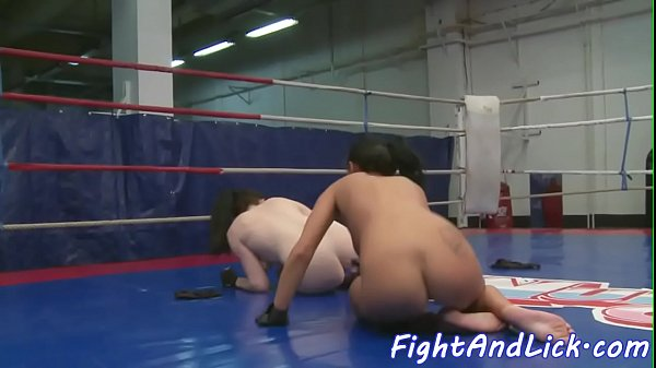 Bigtits wrestling euro pleasured with toys
