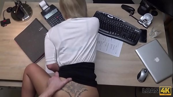 LOAN4K. It's not a casting but blonde undresses and fucks in office