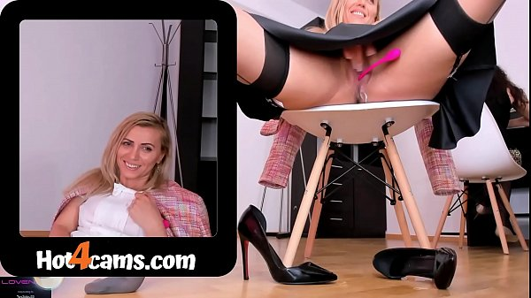 Milf squirts a lot under skirt with colleague in office | SEE ME LIVE at kate.hot4cams.com