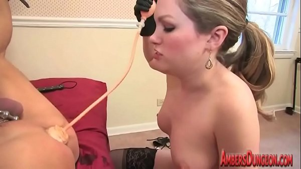 young dominatrix in charge of old slave Thumb