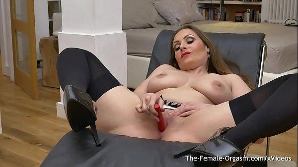 Femorg MILF with Big Naturals Solo Masturbation...