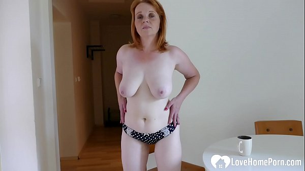 Older redhead chick is here to masturbate passi...