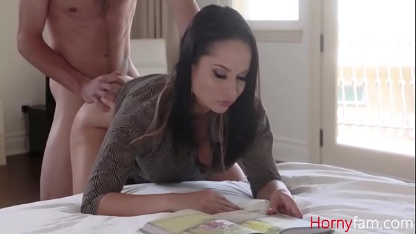 MOM reads magazine while HORNY SON fucks her- Crystal Rush Thumb